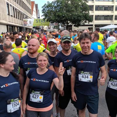 weXelwirken Team beim Start des Stadtlaufs Reutlingen
