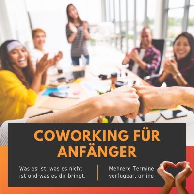 Coworking für Anfänger ist ein Event, welches an verschiedenen Daten stattfindet. Ich freue mich, wenn du dabei bist.